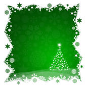Christmas tree from green snowflakes — Stockfoto