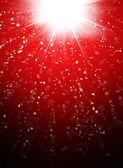 抽象的红色背景上的雪花 — 图库照片