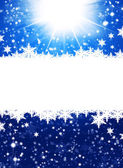 Snowflakes on abstract blue background — Zdjęcie stockowe