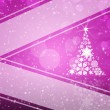 Christmas tree from white snowflakes — Stock Photo