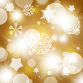 Snowflakes on abstract gold background — ストック写真