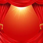 Open curtain — Stock Photo