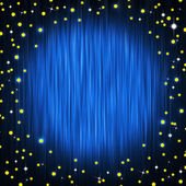 Closed curtain and little stars — Stockfoto