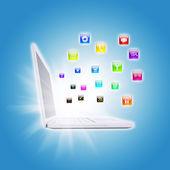 Illustration of communication technologies — Stockfoto