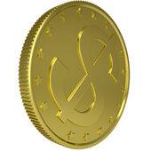 Gold dollar — Stock Photo