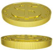 Gold dollars — Stock Photo