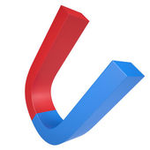 Blue and red magnet — Foto Stock