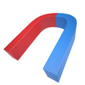 Blue and red magnet — Stock Photo