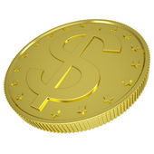 Gold dollar — Stock Photo