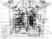 Equipos industriales. procesamiento de alambre-marco — Foto de Stock