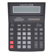 Black calculator — Stock Photo