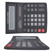 Black calculator — Stock Photo