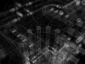Industrial equipment. Wire-frame render — ストック写真
