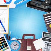 Ofis malzemeleri çerçeve — Stok fotoğraf