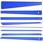 Blue plastic ruler — Stock Photo