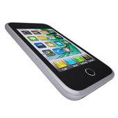 Metal smartphone. The phone screen desktop image — Stock Photo
