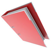 Red office folder — Stock Photo