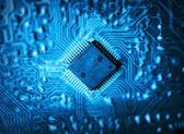 Futuristic integrated circuit — Stockfoto