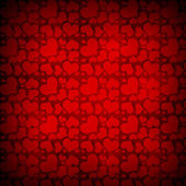 Abstract background of red hearts — ストック写真