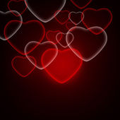 Abstract background of red hearts — Stock fotografie