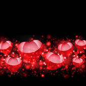 Abstract background of red hearts — Stock Photo