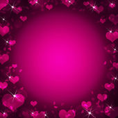 Abstract frame with magenta hearts — Foto Stock