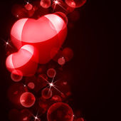 Abstract background of red hearts — Stockfoto