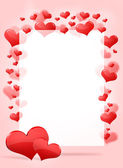 Abstract frame with red hearts — 图库照片