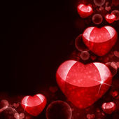 Abstract background of red hearts — 图库照片