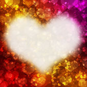 Abstraktní snímek s červeným srdcem — Stock fotografie