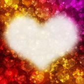 Cuadro abstracto con corazones rojos — Foto de Stock