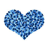 Big heart made up of little hearts — Stock Photo