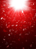 Abstract background of hearts — Stockfoto