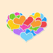 Big heart made up of little hearts — Foto de Stock
