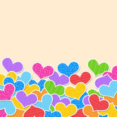 Abstract background of hearts — Foto Stock