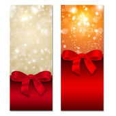 Card with ribbon and bow — Stock Photo