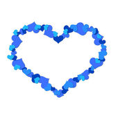 Big heart made ​​up of little hearts — Stock Photo