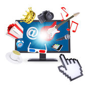 Monitor and multimedia objects — Stock Photo