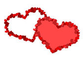 Two big heart made up of little hearts — Stock Photo