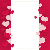 Abstract frame of hearts — Stock Photo