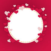 Abstract frame of hearts — Foto Stock