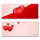 Tarjeta con corazones — Foto de Stock