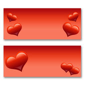 Card with hearts — Stock Photo