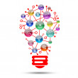 Lamp consisting of apps icons — Stock fotografie