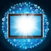 Tablet pc och programmet ikoner — Stockfoto