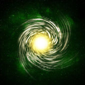 Illustration of a spiral galaxy — Stock Photo