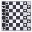 Chess on the chessboard. Top view — Stock Photo #41844411