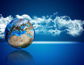 Photorealistic Earth — Stock Photo