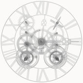 Transparent clock mechanism — Stock fotografie