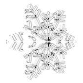 Glas snöflinga — Stockfoto